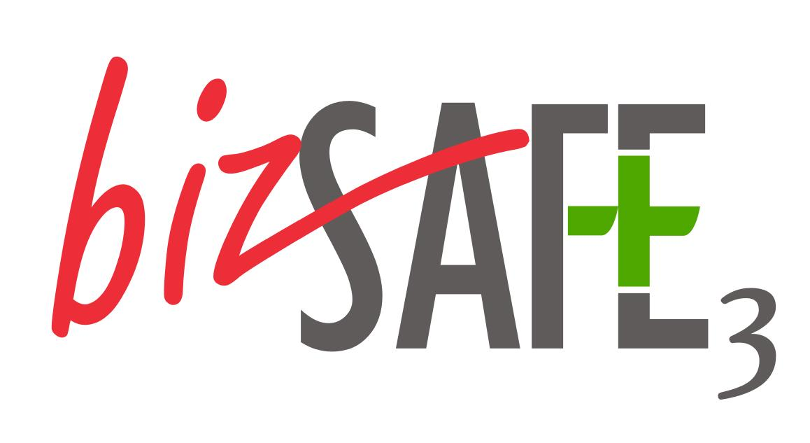 bizsafe logo vinyl stickers  level 3  4  star